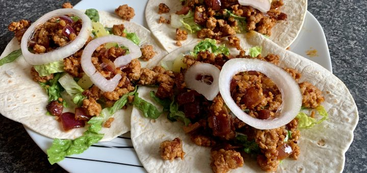 Pork, Pineapple & Red Onion Tacos
