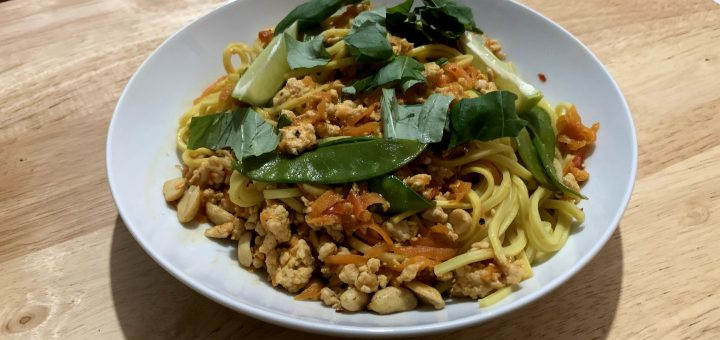 Thai Turkey Noodle Stir Fry